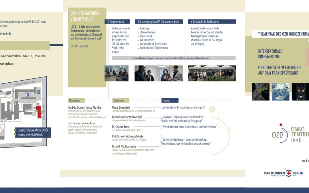 6. Oktober 2021:  1 Jahr OZB – Informations- und Fortbildungsveranstaltung