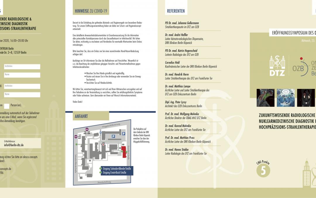 23. September 2020: Fortbildungsveranstaltung zur Eröffnung des DTZ am OZB